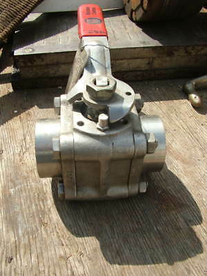 Worcester 2 inch ball valve welded fitting new unused grade 316 stainless