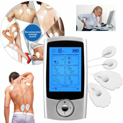 16 Mode Ten Unit Digital Electronic Pulse Massager Therapy Muscle Full Body