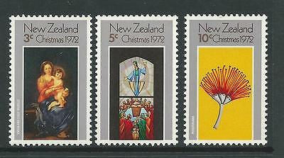 1972 Christmas Set of 3 complete MNH/MUH as Issued