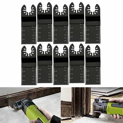 10 Pack 34mm Oscillating Multi Tool Saw Blades Carbon Steel Cutter DIY Universal
