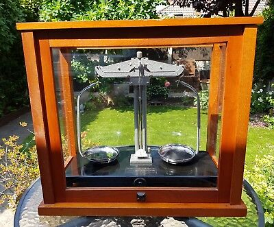 Antique/vintage Griffin & George Medical scales In Glass Case