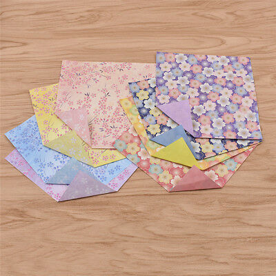 60 Sheets Origami Paper Flowers Printing Papers Card Double Sided Handmaking