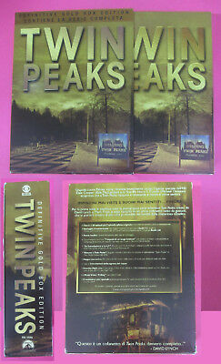 BOX 10 DVD TWIN PEAKS definitive gold box edition serie completa no vhs (SD6)