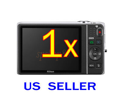 1x Clear LCD Screen Protector Guard Shield Film For Nikon Coolpix S6500 S6800