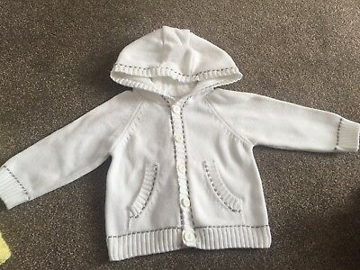 Baby Boy/girl White Cardigan Age 9-12 Months F&f