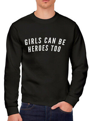 Girls can be Heroes Too - Superhero Comic Cape Girls Can Youth & Mens Sweatshirt