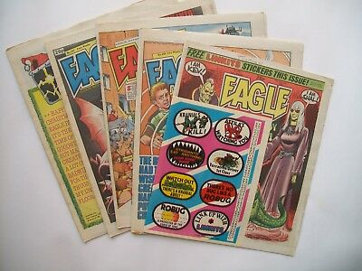 "Comics ""Eagle"" 5 issues 1986.Free gift 'Linkits'"