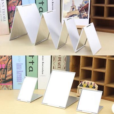 Ultra-thin Make Up Pocket Cosmetic Rectangle Foldable Silver Makeup Mirrors;
