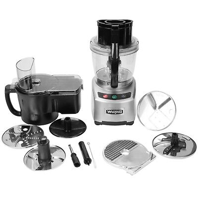 NEW WARING COMMERCIAL WFP16SCD 4 qt. Food Processor w/Batch Bowl Continuos Feed