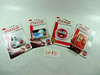Lot of 4 Vintage Coca Cola Memo Holders Refrigerator Magnets #5 Coke Polar Bears