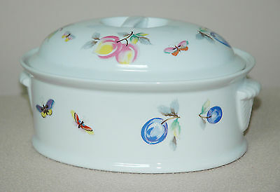 Vintage | FRUIT OVEN TO TABLE | OVAL COVERED CASSEROLE #8096 | Andrea by Sadek