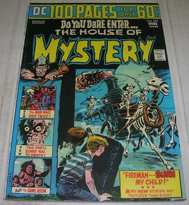 HOUSE OF MYSTERY #225 (DC Comics 1974) 100 PAGE ISSUE (FN) Bernie Wrightson art