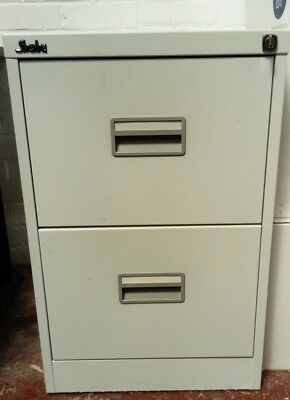 Two Drawer Silverline Filing Cabinet Lockable GDPR Data Protection