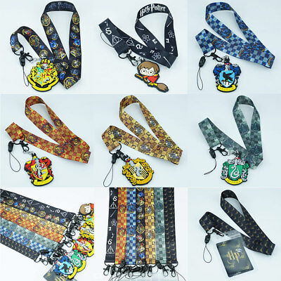 Harry Potter Hogwarts Lanyard Neck Strap Charms Cell Phone Rope Schlüsselbänder