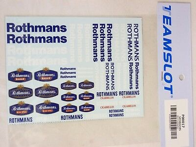 P00017 Team Slot - Rothmans - Decal Sheet - New & Mint