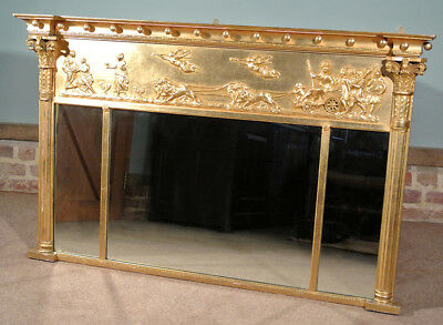 Fine Giltwood Regency Mirror with Chariot Frieze c. 1820