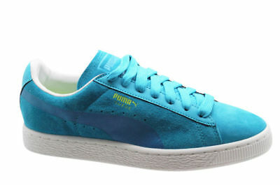 Puma Suede Classic Sprayed Mens Trainers Lace Up Shoes Blue 354400 01 U67