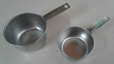 Vintage Foley 1 Cup & 1/2 Cup Replacement Stainless Steel Measuring Cups