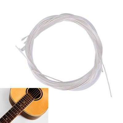 6pcs Guitar Strings Nylon Silver Plating Set Super Light for Acoustic Guitar HU