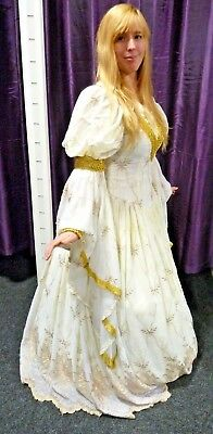 Medieval / Lord of Rings Wedding Dress - Size M , made by Tabi Characters of LA