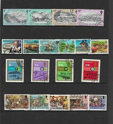 GUERNSEY 1982 Commemorative sets - SG 249/67 - used