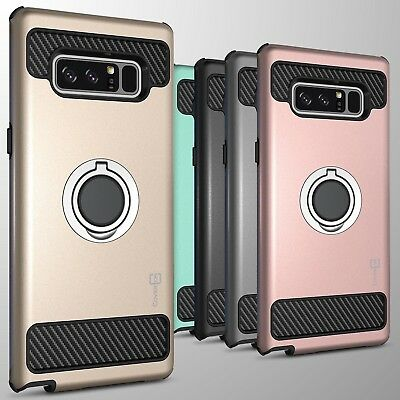 For Samsung Galaxy Note 8 Hybrid Armor Protective Ring Phone Cover Hard Case