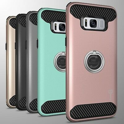 For Samsung Galaxy S8 Hybrid Armor Protective Ring Phone Cover Hard Case