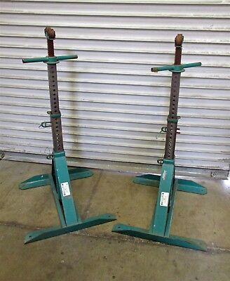 Pair Greenlee 683 Adjustable Cable Reel Stand -Barely Used-      D6910