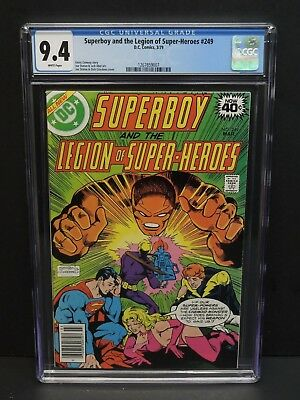 Dc Comics Superboy And The Legion Of Super-Heroes #249 1979 Cgc 9.4 White Pages