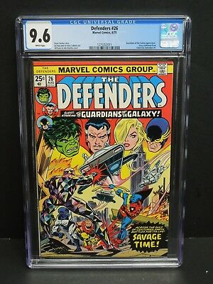 Marvel Comics Defenders #26 1975 Cgc 9.6 Wp Guardians Of The Galaxy Appearance