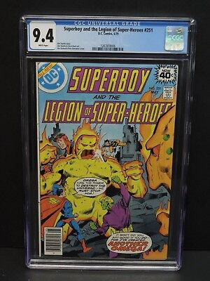 Dc Comics Superboy And The Legion Of Super-Heroes #251 1979 Cgc 9.4 White Pages