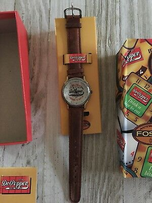 Vintage Dr Pepper Fossil Watch Collectible