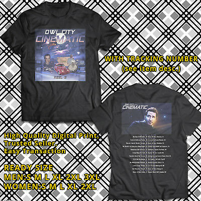 NEW OWL CITY Cinematic Tour 2018 T-shirt All Size ( 2 Side