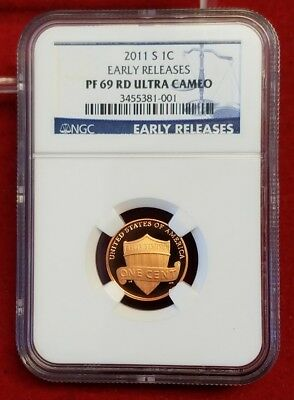 2011-S Proof Lincoln Shield Cent NGC PF69 Ultra Cameo