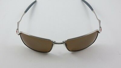 c98f359d0c9 Oakley Square Whisker Polished Chrome Tungsten Iridium Polarized Ducati Red  Wire