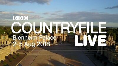 Family ticket COUNTRYFILE LIVE Blenheim Palace Saturday 4th Aug - day