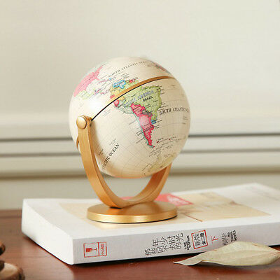 10cm Rotating Earth Globe World Map Swivel Stand Geography Educational Toy