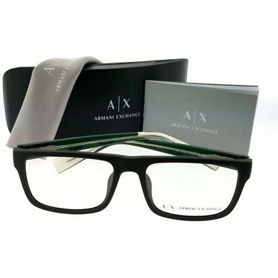 9745363dde55 ARMANI EXCHANGE AX3035F-8195-54 Eyeglasses Size 54mm Rectangular New 100%  Authe