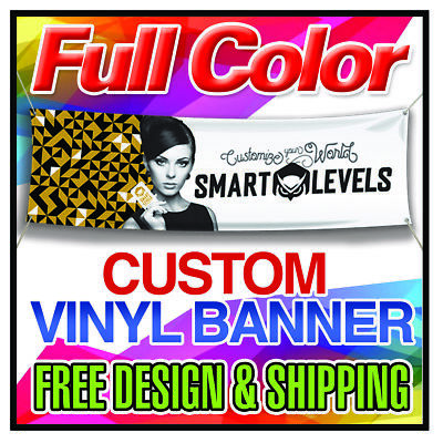 4' x 8' Full Color Custom Banner 13oz Vinyl - same day printing free shipping