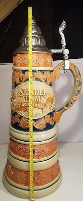 "Samuel Adams Beer Stein Octoberfest GIANT 35"" Display Man Cave Home Decor"