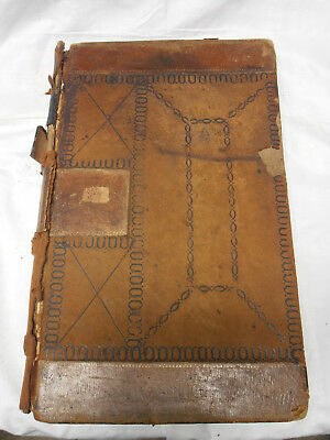 1860's - Medical Doctors Ledger With Remedies/cures Of The Period- Lancaster, Oh