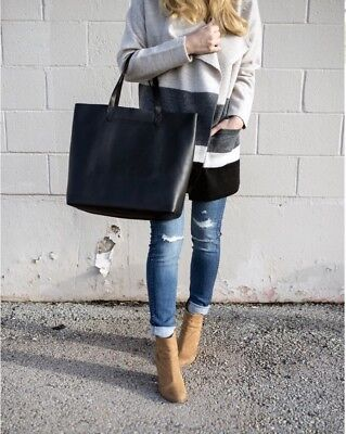 MADEWELL  THE TRANSPORT  Leather Tote Black -  119.00  999cf73baa351