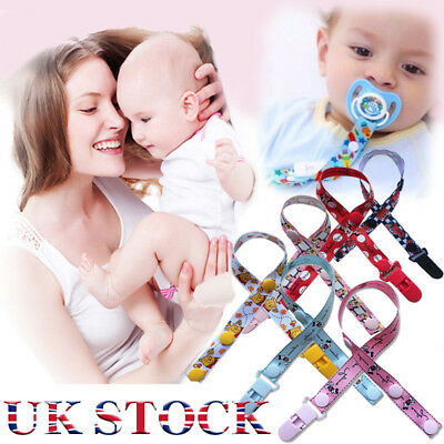 Baby Boys Girls Themed Dummy Cartoon Holder Soother Clip Pacifier Strap Newborn