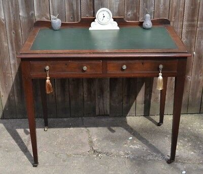 Antique Edwardian Writing Desk Dressing Table Mahogany Kneehole Office Desk
