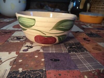 Nice Vintage Watt Pottery 05 Apple Nappy Advertising Bowl Kewaunee, Wisconsin