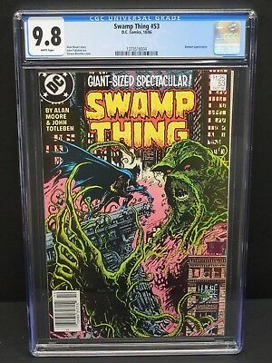 Dc Comics Swamp Thing #53 1986 Cgc 9.8 White Pages - Batman Appearance
