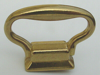 """Solid Brass Carriage Clock Handle Size 1-3/8"""" Wide x 1"""" High PACKAGE OF 4 PIECES"""