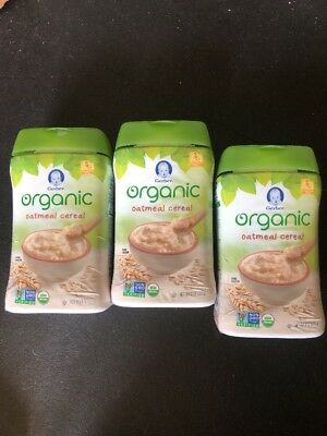 Gerber Baby Cereal, Organic Oatmeal, 8 Ounce (3 Pack Deal)