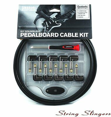D'Addario DIY Solderless Pedal Board Patch Lead/Cable Kit, PW-GPKIT-10