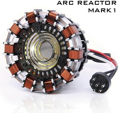 Iron Man ARC Reactor MK I 1:1 Replica - Komplett aus Metall + LED Fernsteuerung!